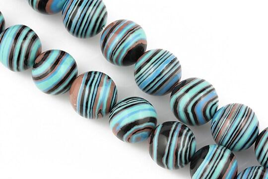 Compozit albastru-negru-maro sfere 12mm