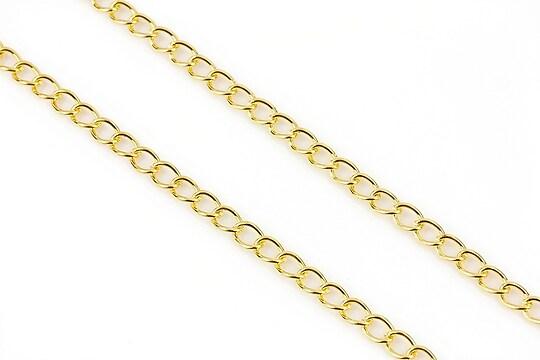 Lant auriu 5x3,5mm (49cm)
