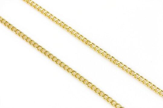 Lant auriu 3x2mm (49cm)