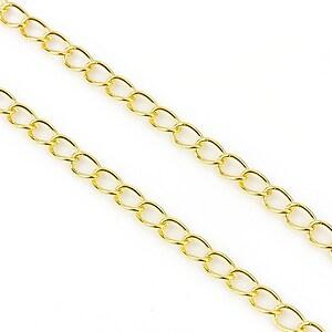 Lant auriu 6x3mm (49cm)