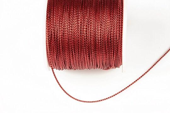 Snur metalic 0,8mm (1m) - rosu