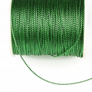 Snur metalic 0,8mm (1m) - verde