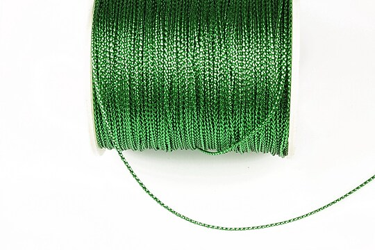 Snur metalic 0,8mm (1m) - verde