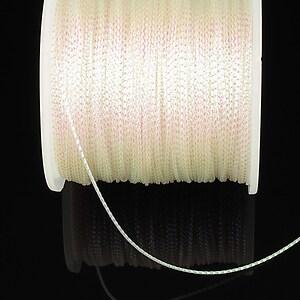 Snur metalic 0,8mm (1m) - alb cu reflexii AB