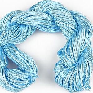 Ata nylon, grosime 1mm, 28m,  albastru deschis