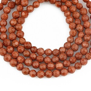 Goldstone sfere fatetate 4mm (10 buc.)