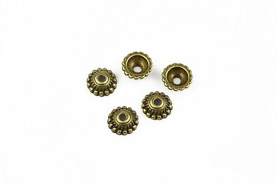 Capacele margele bronz 7mm