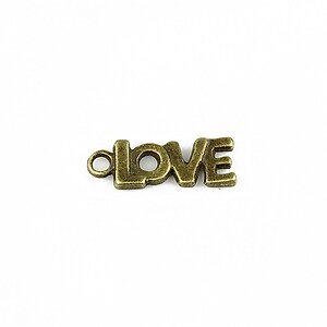 Charm bronz Love 20x7mm