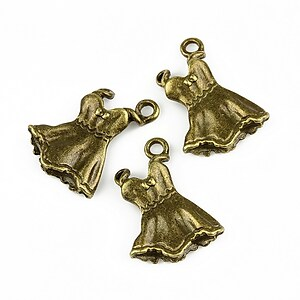 Charm bronz rochita 20x15mm