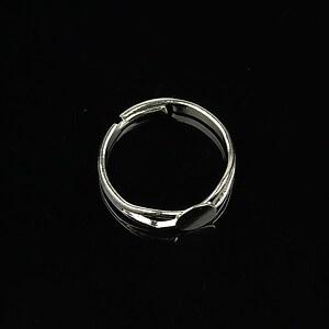 Baza de inel argintiu, reglabila, platou 6mm