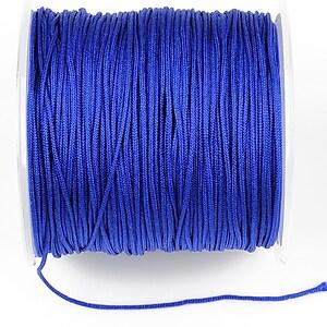 Snur Shamballa Dandelion grosime 1mm, rola de 100m - albastru cobalt