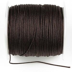 Snur Shamballa Dandelion grosime 1mm, rola de 100m - maro