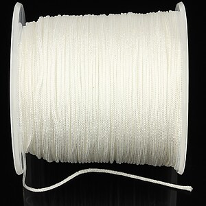 Snur Shamballa Dandelion grosime 1mm, rola de 100m - alb