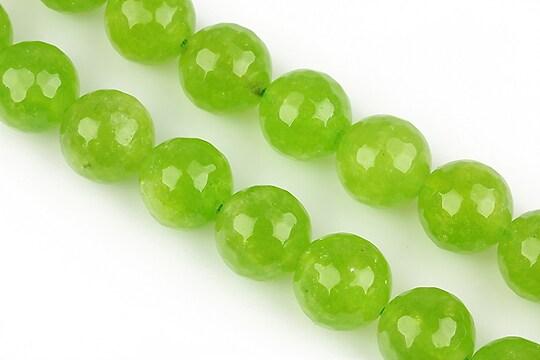 Jad verde mar sfere fatetate 12mm