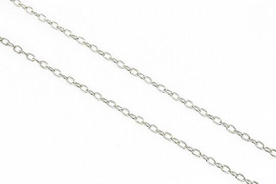 Lant argintiu inchis 3x2mm (49cm)