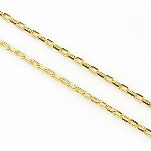 Lant cu zale in doua culori 3x2mm (49cm) - auriu - auriu