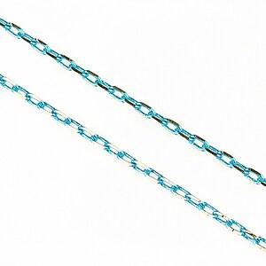 Lant cu zale in doua culori 3x2mm (49cm) - argintiu - bleu