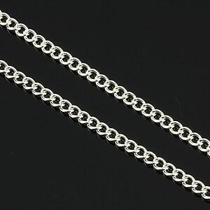 Lant argintiu 3x2mm (49cm)
