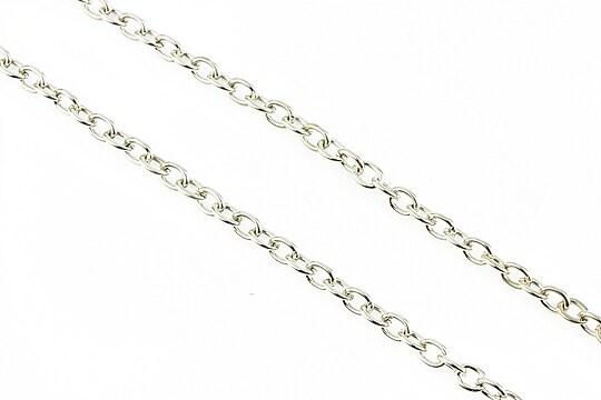 Lant argintiu inchis 3x2,5mm (49cm)