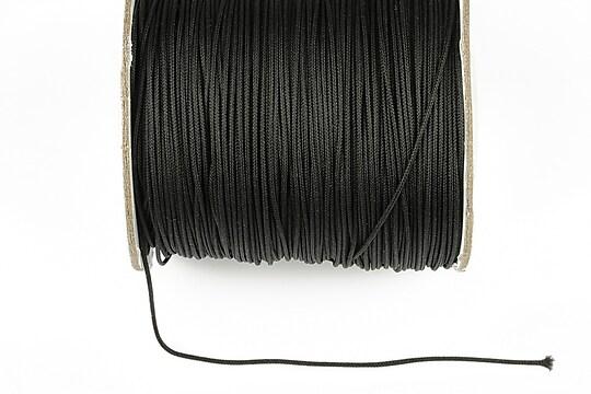 Snur nylon cu guta in interior grosime 1mm (1m) - negru