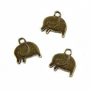 Charm bronz elefant 13x12mm