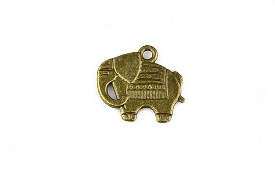 Charm bronz elefant 19x21mm