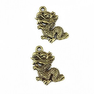 Charm bronz dragon 19x12mm
