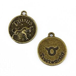 Charm bronz zodiac - taur 20x16mm