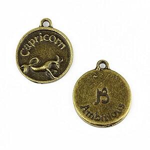 Charm bronz zodiac - capricorn 20x16mm