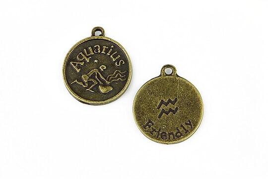 Charm bronz zodiac - varsator 20x16mm