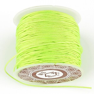 Snur Shamballa grosime 1mm, rola de 35m - verde neon