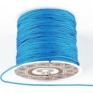 Snur Shamballa grosime 1mm, rola de 35m - albastru turcoaz