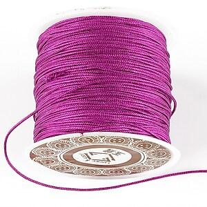 Snur Shamballa grosime 1mm, rola de 35m - violet