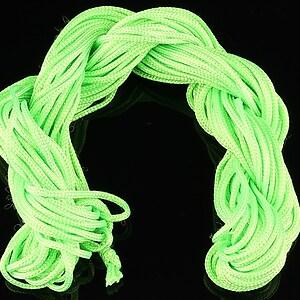 Ata nylon, grosime 2mm, 12m, verde neon