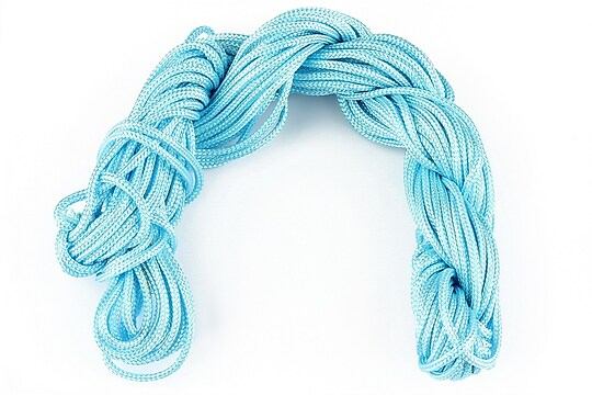 Ata nylon, grosime 2mm, 12m, bleu