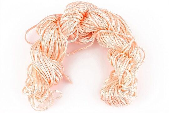 Ata nylon, grosime 1mm, 28m, roz somon