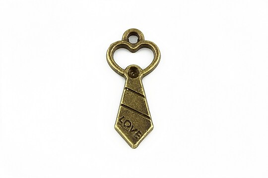 Charm bronz cravata LOVE 30x13mm