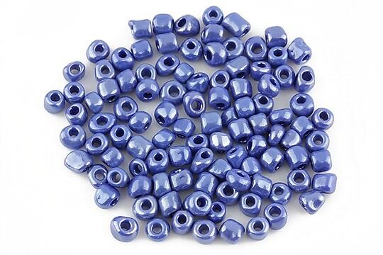 Margele de nisip lucioase 4mm (50g) - cod 198 - albastru
