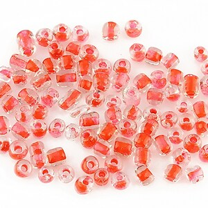Margele de nisip 4mm (50g) - cod 214 - rosu corai