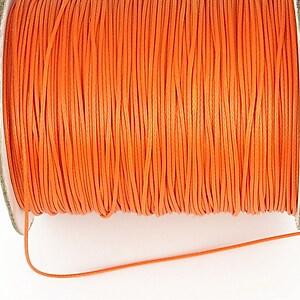Snur cerat grosime 0,8mm, portocaliu (1m)