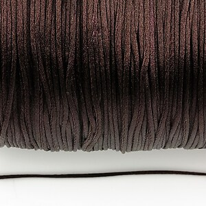 Snur nylon satinat grosime 1mm (1m) - maro