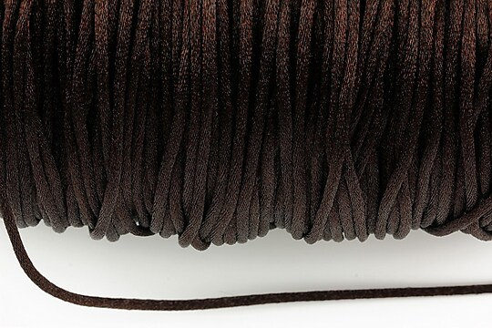 Snur nylon satinat grosime 2mm (1m) - maro