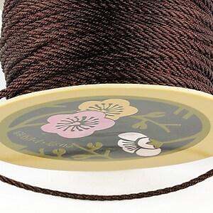 Snur nylon impletit grosime 2mm (1m) - maro inchis