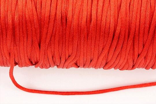 Snur nylon satinat grosime 2mm (1m) - rosu
