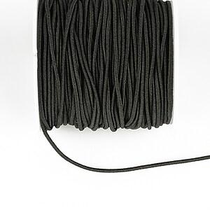 Elastic grosime 1,5mm, rola de aproximativ 13m - negru
