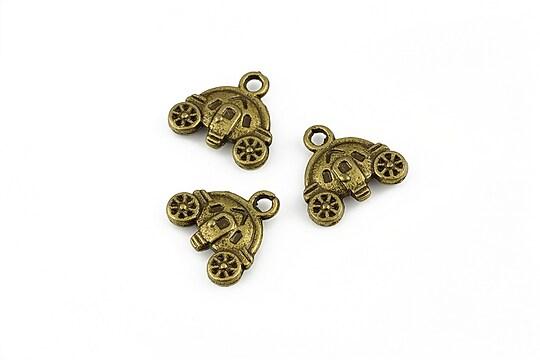Charm bronz caleasca 13x14mm