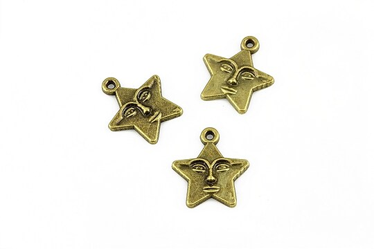 Charm bronz stea 16x15mm
