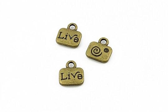 Charm bronz Live 11x10mm