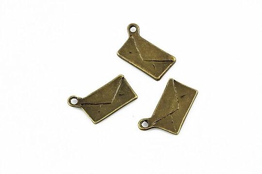 Charm bronz plic 17x10mm