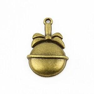 Charm bronz glob 33x20mm